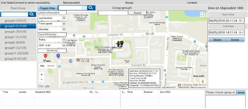 4G portofoons LTE Hofcon kaart GPS